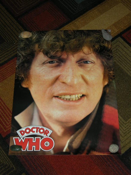 Doctor Who Tom Baker Poster by There & Back Again on Etsy