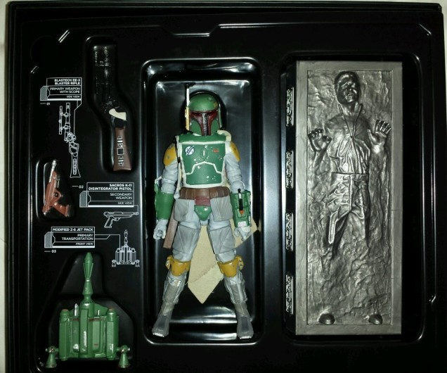 STAR WARS HASBRO 2013 SDCC BOBA FETT BLACK SERIES EXCLUSIVE FIGURE