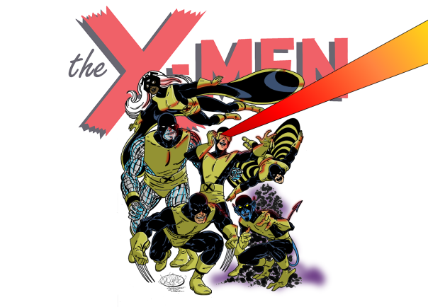 X-Men by John Byrne, digitally inked & colored by yours truly