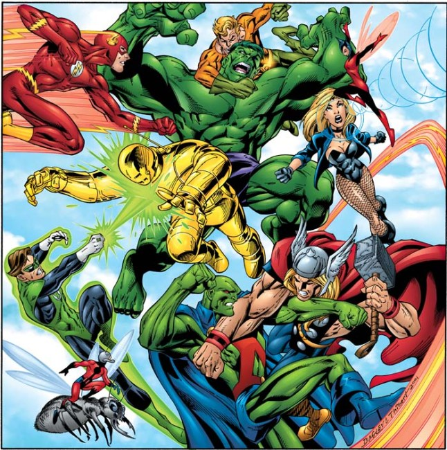 #JLA - Year One vs. the Founding #Avengers