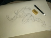 My anatomy isn't quite right but here is my Flash...
