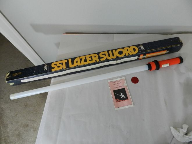 SST Lazer Sword.  Manufactured by Super Sonic Toys of L.A. Calif.  This was the competitor of the Star Wars Lightsaber