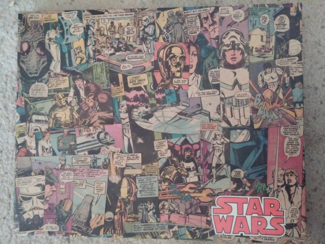 "Made from a Marvel Special Edition Over Sized Star Wars Comic. Copyright 1977 Issue #1. This collage is 16"" x 20"" it has been sprayed with a clear coat and comes with a Lucite cover, it has holes in back ready for hanging."