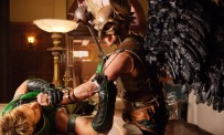 Justin Hartleys Green Arrow and Michael Shanks Hawkman Smallville Justice League episode
