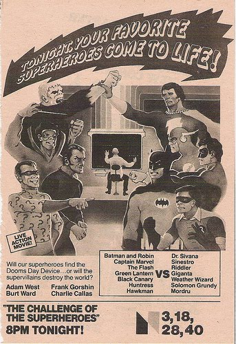 Legends of the Superheroes - TV Guide ad 1