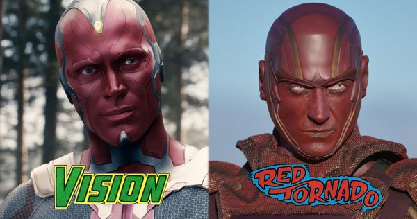 The Vision vs. Red Tornado: Battle of the Droids?